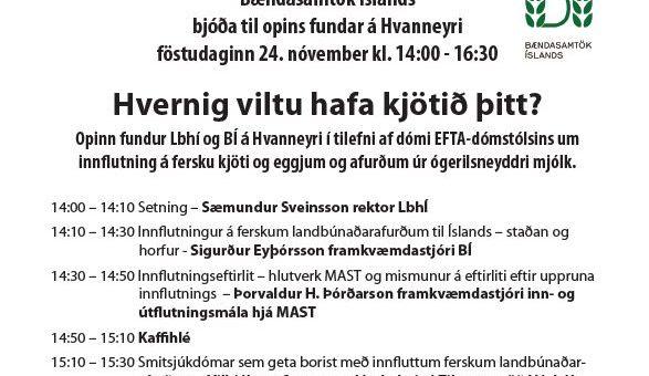 Áhugaverður fundur á Hvanneyri á morgun.