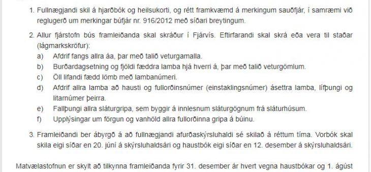 Síðasti skiladagur í Fjárvís 12. desember